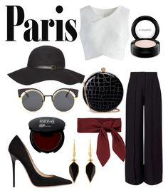 """""""paris"""" by korotkevich-1 ❤ liked on Polyvore featuring Miss Selfridge, Chicwish, Jimmy Choo, MAC Cosmetics, Dorothy Perkins, Alexander McQueen, Isabel Marant and Chloé"""