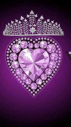 Heart Iphone Wallpaper, Cellphone Wallpaper, Queens Wallpaper, Love Wallpaper, I Love You Pictures, Glitter Hearts, My Themes, Purple Backgrounds, Tiaras And Crowns