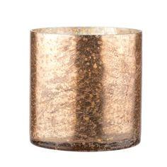 Copper Antique Glass Tea Light Holder