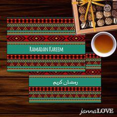 Ramadan Kareem Greeting Cards / Invitations | Arabic - English Islamic Printables | Design by Janna Love on Etsy