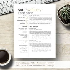 Professional Resume Template for Word Page Resume Cover image 0 Cover Letter Template, Cover Letter For Resume, Letter Templates, Cover Letters, Modern Resume Template, Creative Resume Templates, Design Templates, Template Cv, Templates Free