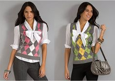 City Style Argyle Sweater Vest...i have the pink one