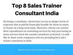 By hiring a consultant, clients have access to deeper levels of expertise that would be financially feasible for them to retain in-house on a long-term basis. Training And Development, Training Plan, Personal Development, Sales Training Programs, Best Online Sales, Confidence Level, India Usa, Personal Goals, More Words