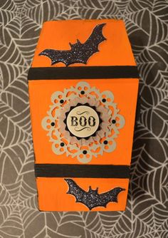 Halloween Bat Coffin Box on Etsy, $8.00