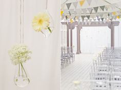 gray and yellow wedding is quite lovely