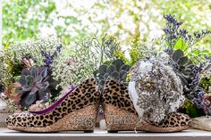 Leopard Print Wedding Shoes | Image by Neil Cooling Photography