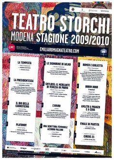 Gilberto #Giovagnoli  per il manifesto della Stagione 2009-10 del #Teatro #Storchi di #Modena