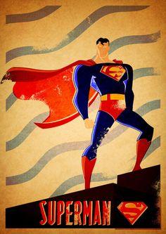 superman art print, fat knack