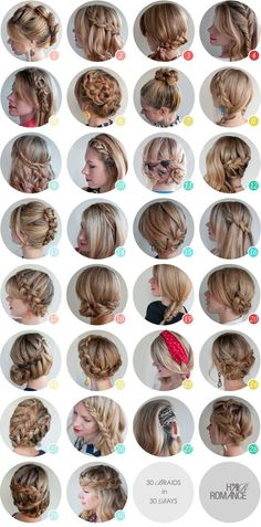 These r really good to make ordinary hair extrodinary plus most of these are really easy if you know how to braid, and if you click the link theres some info on an ebook with step by step instructions for all of these lovely styles xD