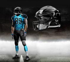Carolina New Panther NFL Uniforms | Nike Pro Combat - Carolina Panthers 2012 Alternate Concept | Flickr ...
