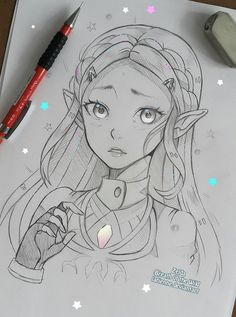 Do you like Zelda?😄 This is a commission example ,to commission me please check Zelda - Commission example Art Drawings Sketches Simple, Cartoon Drawings, Cartoon Art, Cute Drawings, Drawing Ideas, Anime Sketch, Manga Drawing, Figure Drawing, Zelda Drawing