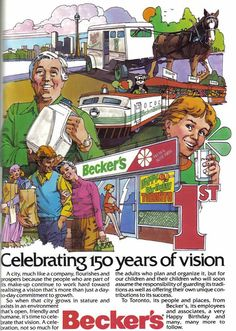 Becker's variety store in Ontario Canada. Loved this store. Shopped there in Toronto. This ad is from 1983 which was Toronto's 150th Birthday