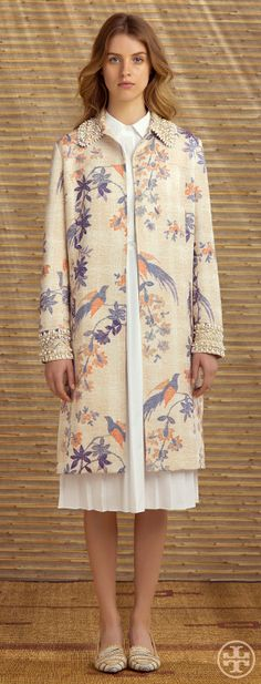 Tory Burch Resort 2014 #Apostolicfashion #modestfashion #modestdress #tzniutfashion #classicdress #formaldress #kosherfashion #apostolicclothing