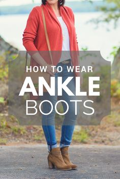 Thought you couldn't wear ankle boots over 40? Think again! In this post I'll show you How to Wear Ankle Boots Over 40 and look great! With photos!!