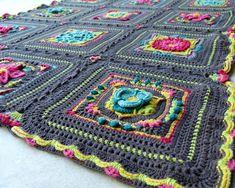 Unelmien Puutarha, virkattu peitto Blanket, Crochet, Crochet Crop Top, Rug, Blankets, Chrochet, Knitting, Haken, Quilts