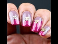 Two Toned Chanel Inspired Nails #TUTORIAL