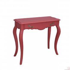 Konsole MONA rot B80cm Pinie Massivholz - Diese modernen Zimmermöbel im Landhausstil sorgen auf jeden Fall für Wohlfühlstimmung. Durch den trendigen schlichten Look sehen Sie immer wieder gerne hin.