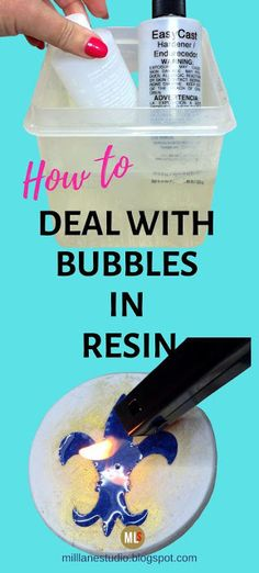 If bubbles are plaguing your resin projects, then you need these bubble busting tips to be rid of them once and for all. Learn ways to get rid of bubbles whether they're occurring in the mixing stage. Diy Resin Projects, Diy Resin Art, Diy Resin Crafts, Easy Crafts, Wood Projects, Resin Pour, Uv Resin, How To Make Resin, Diy Epoxy