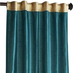 Teal and Gold curtains from Pier 1.