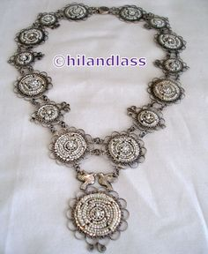 XRARE VTG OAXACA MEXICO MEXICAN FOLK ART STERLING SILVER FILIGREE PEARL NECKLACE…