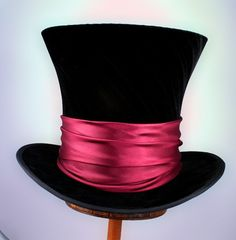 7f0a6a63758bb Tall Toad Original Hats · Mad Hatter top hats with crushed velvet and satin  sash. They are 8 1