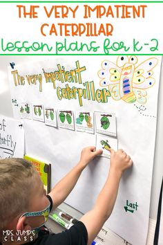 Fun, butterfly lesson plans are here! Students respond to literature using the story, The Very Impatient Caterpillar and also learn about the butterfly life cycle and migration using nonfiction text. You will love these digital and printable lessons for kindergarten, 1st, & 2nd grade.