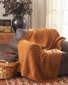 Ravelry: Peacock Feathers Afghan pattern by Bernat Design Studio