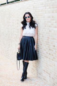 blog-da-mariah-look-do-dia-carmen-steffens-13 Winter Looks, Skater Skirt, Ideias Fashion, Tulle, Ballet Skirt, Street Style, Style Inspiration, Skirts, Blog