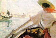 In my Gondola                                        Anders Zorn    - 1894