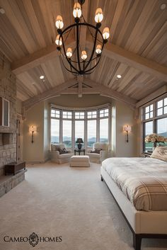Master Bedroom in Tuhaye, Utah. PC: Lucy Call. Built by Cameo Homes Inc. in Utah.