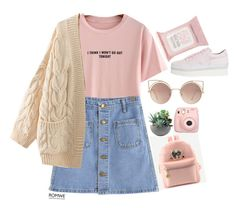 """#Romwe"" by credentovideos ❤ liked on Polyvore featuring Rough Fusion, Topshop, MANGO, Soya Fish, Fujifilm and WithChic"