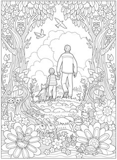 Welcome to Dover Publications Free Adult Coloring Pages, Cute Coloring Pages, Free Coloring, Creative Haven Coloring Books, Line Art Images, Line Art Vector, Line Artwork, Art Drawings For Kids, Animal Drawings
