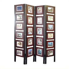 Lowest price online on all Picture Folding Screen In Dark Mahogany - FS16686