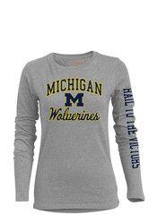 Michigan Womens  Grey T-Shirt