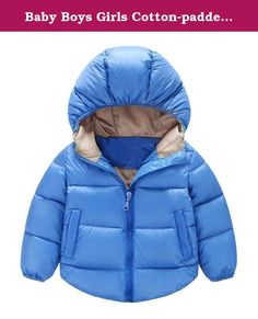 Baby Boys Girls Cotton-padded Hooded Coat Light Weight Down Jacket (12-18Months, Blue). Size Information: 6-12M: Coat Lengths 40cm/Shoulder 25.5cm/Bust 68cm/Sleeve 32cm 12-18M: Coat Lengths 43cm/Shoulder 27cm/Bust 71cm/Sleeve 35cm 18-24M: Coat Lengths 46cm/Shoulder 28.5cm/Bust 74cm/Sleeve 38cm 2-3T: Coat Lengths 49cm/Shoulder 30cm/Bust 77cm/Sleeve 41cm 3-4T: Coat Lengths 51cm/Shoulder 31.5cm/Bust 80cm/Sleeve 44cm Due to different measurement methods, there may be 1-3cm of the allowable…