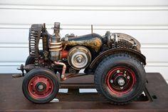 Tractor ..sewing machine by ferrerini mechanical art