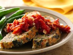 Bacon-Spinach Turkey Meat Loaf with Tomato Jam - Relish this turkey ...