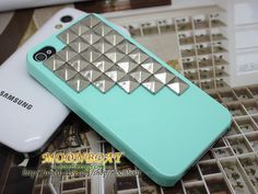Light Green Cell Phone Hard Case Cover With Silvery by moonboat, $11.99