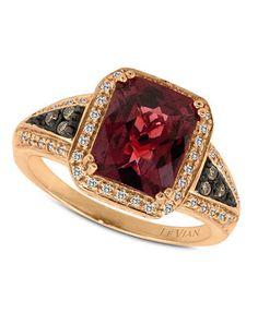 Le Vian Garnet (4-1/6 ct. t.w.) and Diamond (1/5 ct. t.w.) in 14k Rose Gold