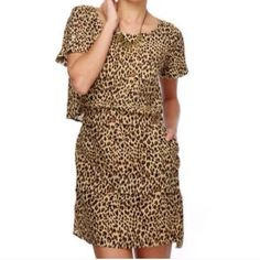Button-back Cheetah Print Dress by Obey This great is adorable.  It is lightweight and super soft too!   Please let me know if you have any questions. I offer a 20% discount on 3+ bundles!  I am open to reasonable offers but no trades. Obey Dresses