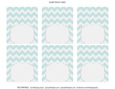 free chevron party printables favor tags