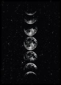 Sky Moon, Moon Art, Stars And Moon, Moon Phases Art, Wallpaper Sky, Wallpaper Backgrounds, Iphone Wallpaper, Moon And Stars Wallpaper, Phone Backgrounds