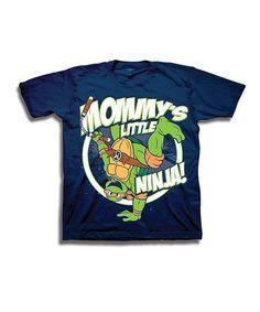 6f7ae824e41 Navy  Mommy s Little Ninja  TMNT Tee - Toddler