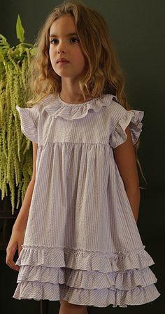 Greta - Lavender Stripe
