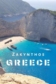 TOP 13 Things to do in Zakynthos [Zante - Ionian Island in Greece] Backpacking Europe, Road Trip Europe, Europe Travel Guide, Travel Guides, Travelling Europe, Travel Hacks, Santorini, Mykonos, Europe Destinations