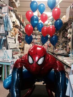 Spider-man Air walker & 5-latex on a weight makes a great Photo shoot backdrop for Kids bday parties :) 219-531-2623