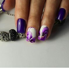 Nail Art magnetic designs for fascinating ladies. Nail Art Design Gallery, Best Nail Art Designs, Toe Nail Designs, Nails Design, Pedi Perfect, Perfect Nails, One Stroke Nails, Purple Nails, Beauty Bar