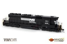 HO Scale: EMD SD40-2 High Nose Paragon3 Sound/DC/DCC : Norfolk & Southern (Black Sill)