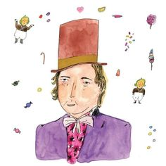 Willy Wonka/ Gene Wilder from A Field Guide to Redheads  @workmanpub