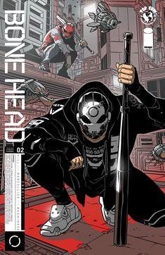 Bonehead - Comics by comiXology Mode Cyberpunk, Cyberpunk Kunst, Cyberpunk Fashion, Character Concept, Character Art, Concept Art, Comic Manga, Comic Art, Comic Books